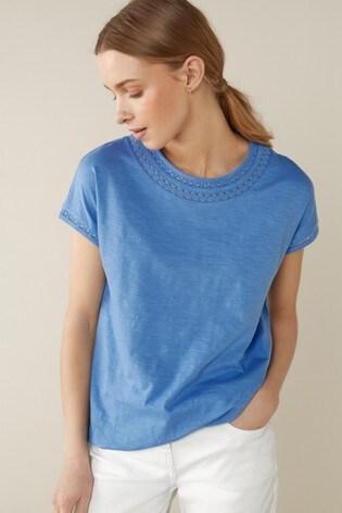 Blue Bubble Hem T-Shirt