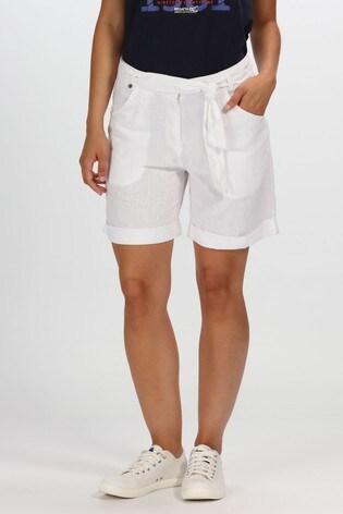 Regatta White Samarah Shorts