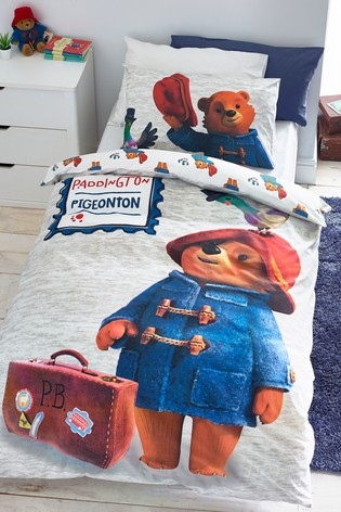 Paddington Bear And Pidgeonton Reversible Duvet Cover and Pillowcase Set