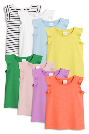 Multi Vests Eight Pack (3mths-7yrs)