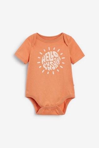Gap Baby Orange Slogan Bodysuit
