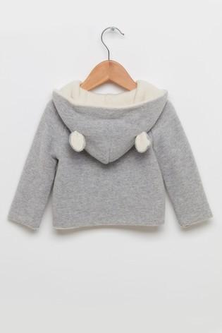 Trotters London Grey Teddy Coat