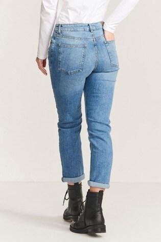 FatFace Blue Chesham Girlfriend Jeans