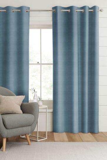 Aqua Blue Otto Made To Measure Curtains