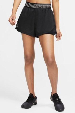 Nike Black 2-In-1 Woven Shorts