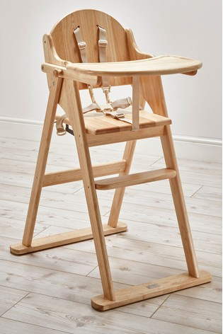 Fold Highchair Natural By East Coast