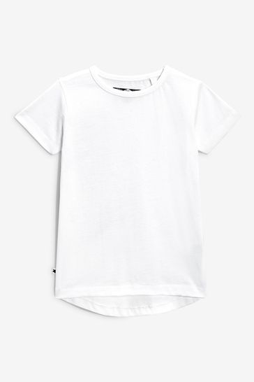 White 5 Pack Short Sleeve T-Shirts (3mths-7yrs)