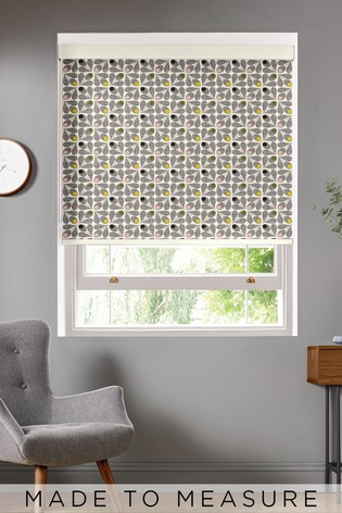 Scribble Acorn Cup Slate Black Made To Measure Roller Blind by Orla Kiely