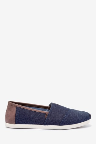 TOMS Dark Navy Denim Espadrilles