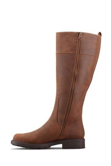 Clarks Tan Warm Lined Lea Orinoco2 Hi Boots