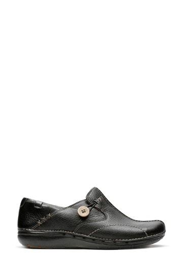 Clarks Black Un Loop Shoes