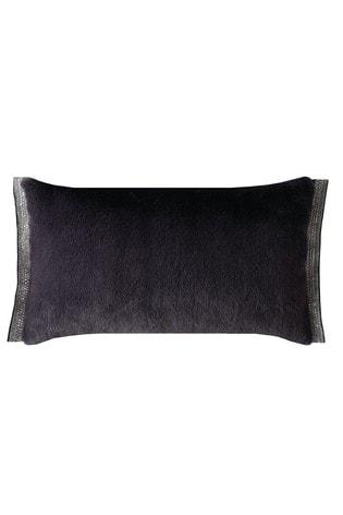 Rita Ora Emina Embellished Faux Fur Cushion