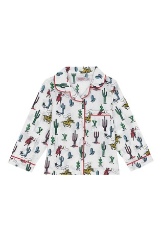 Cath Kidston® Cream Desert Cowboy Kids Woven Pyjamas