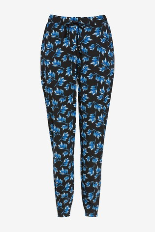 Navy Floral Jersey Joggers
