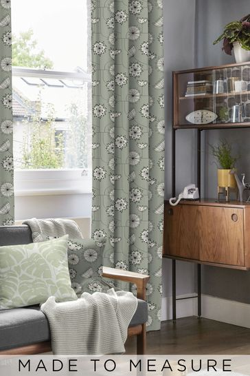 Dandelion Mobile French Grey Made To Measure Curtains