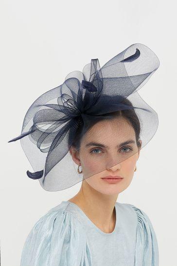 Accessorize Navy Rhea Large Crin Hat
