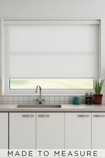 Pearl White Waffle Made To Measure Roller Blind
