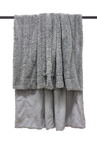 Furn Grey Tundra Throw
