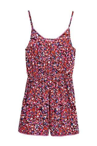 Confetti Print Strappy Playsuit