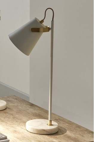 Pacific White Theia Task Table Lamp