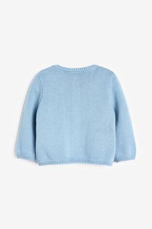 Blue Knitted Elephant Cardigan (0mths-3yrs)