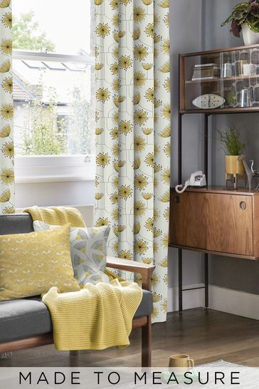 Sunflower Yellow Dandelion Mobile Made To Measure Curtains
