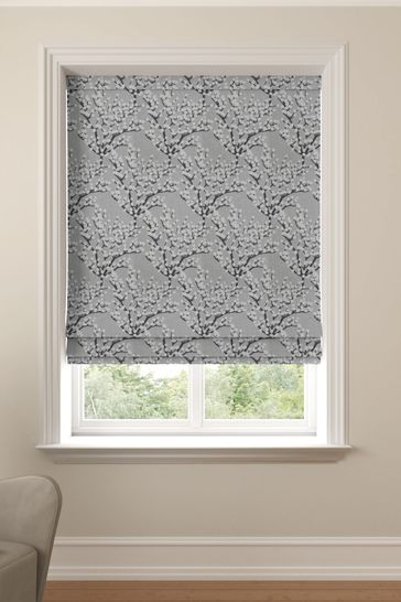 Albion Silver Grey Made To Measure Roman Blind