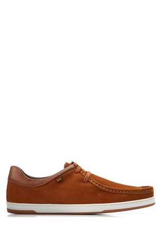 Base London Tan Dougie Suede Lace-Up Shoes