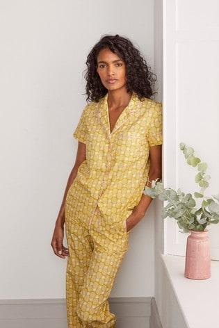 Boden Yellow Phoebe PJ Shirt