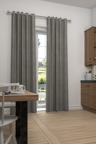 Soft Velour Silver Made To Measure Curtains