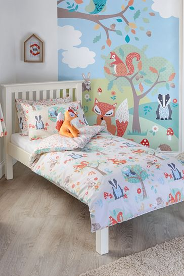 Little Furn Woodland Duvet Cover and Pillowcase Set by Furn