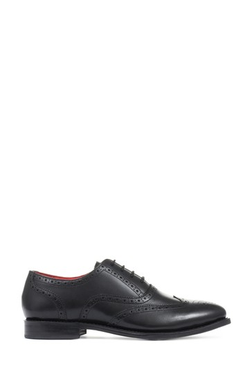 Jones Bootmaker Black Vivienne Goodyear Welted Ladies Brogues