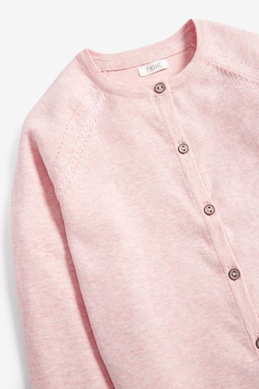 Pink Marl Cardigan (3-16yrs)