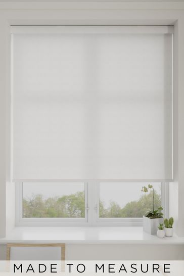 Dottie Alabaster White Made To Measure Roller Blind