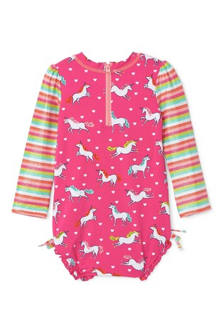 Hatley Prancing Unicorns Rashguard Swimsuit