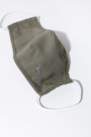 Mint Velvet Khaki Star Face Covering
