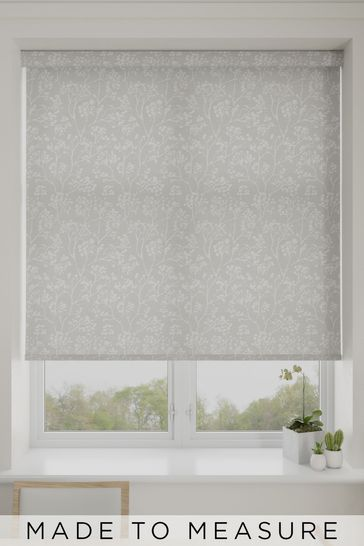 Garden Trail Silver Made To Measure Roller Blind