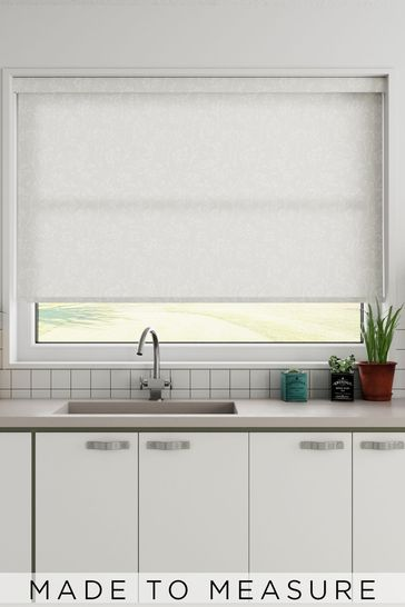 Garden Trail Chiffon White Made To Measure Roller Blind