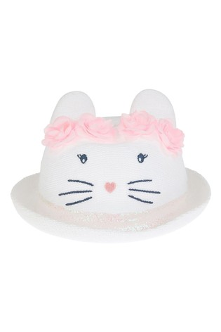 Monsoon White Baby Maggie Bunny Bowler Hat
