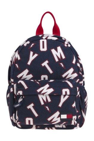 Tommy Hilfiger Blue All Over Print Backpack