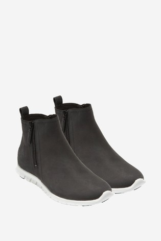 Cole Haan Black Zerogrand Side Zip Ankle Boots