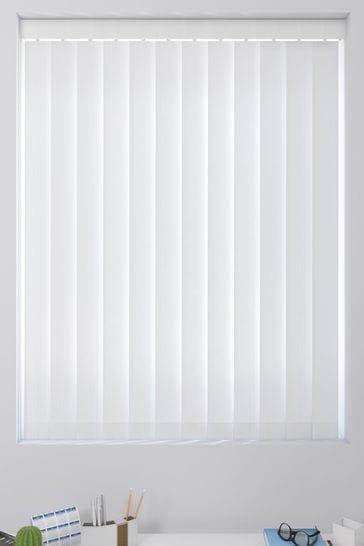 White Tonal Stripe Made To Measure Vertical Blind
