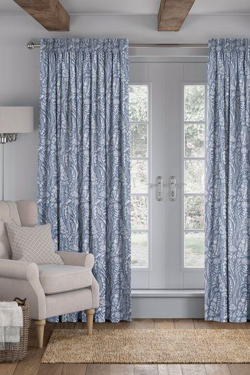 Garrick Denim Blue Made To Measure Curtains