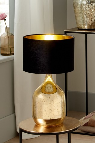 Stellar Gold Champagne Glass Dual Light Table Lamp by Pacific