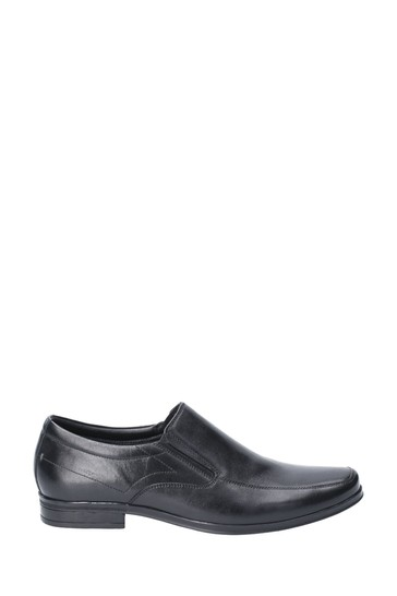 Hush Puppies Black Billy Slip-On Shoes