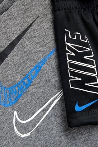 Nike Infant Black/Grey Dri-FIT T-Shirt And Short Set