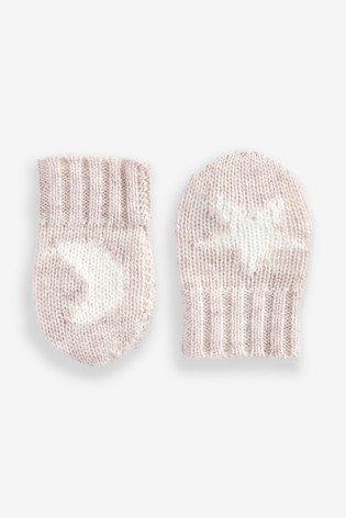 Pure Collection White Cashmere Baby Mittens