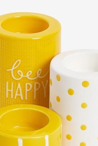Set of 3 Ceramic Tealight Holders