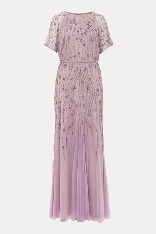 Phase Eight Purple Florisa Sequinned Dress