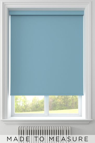 Topaz Blue Syson Made To Measure Roller Blind